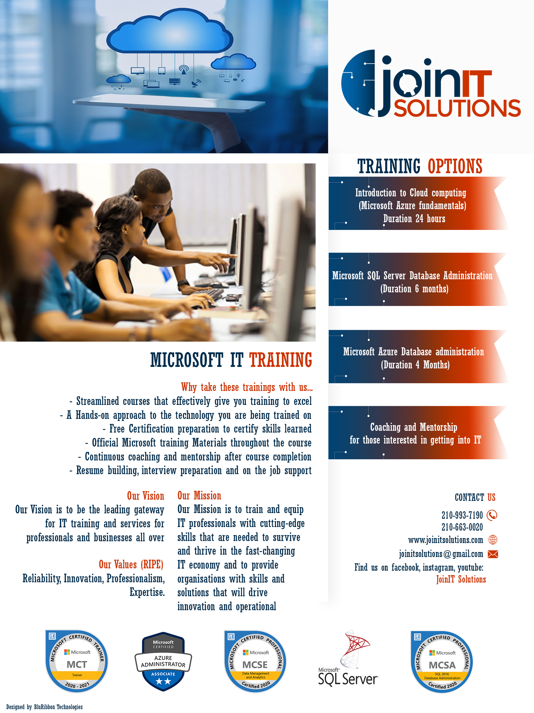 Image showing flyer by bluribbon tech for joinIT solutions