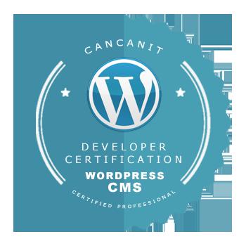 image showing WordPress badge