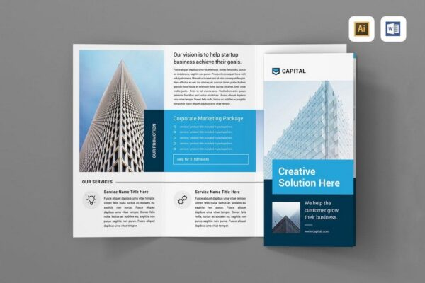 image showing trifold brochure